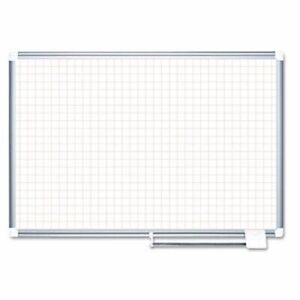 Mastervision Mastervision Grid Planning Board 1 Grid 72x48 White silver