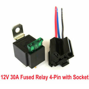 12v Car Automotive On off Fused Relay 4 pin 30a Fuse With Holder Socket Tool