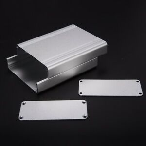 Silver Split Body Extruded Aluminum Box Enclosure Case Project Electronic Tool