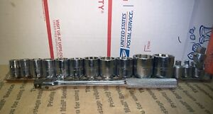 Proto 3 8 Drive Socket Set Breaker Bar 3 8 To 1 With Adapters
