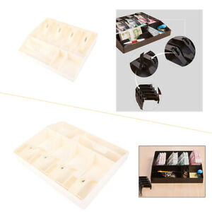 Money Cash Register Insert Tray Replacement 8 Bill Coin Cashier Drawer Box