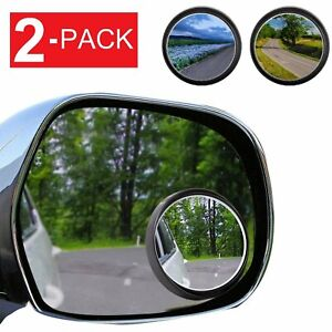 2 Pack Wide Angle Convex Rear Side View Blind Spot Mirror Car Auto Universal