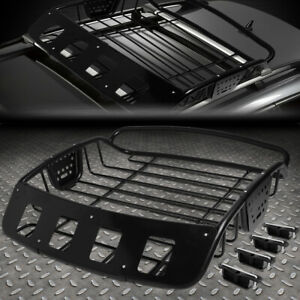 Universal Adjustable Heavy Duty Steel Roof Rack Cargo Basket Luggage Carrier