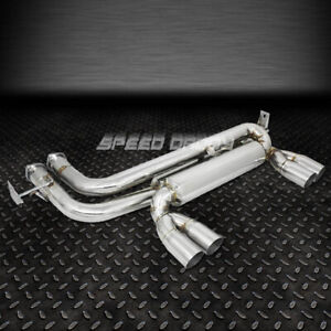 Quad 2 75 Tip Stainless Cat axle back Muffler Exhaust System 99 06 Bmw E46 M3