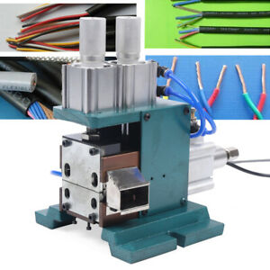 110v Pneumatic Vertical Wire Stripper Wire Stripping Machine Cable Peeling New