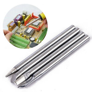 4pc 4 4 65mm Soldering Iron Tip Head Replaceable Shank For 40w Solder Irons Tool