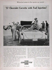 1957 Chevrolet Corvette Lot Of 3 Ads 5pgs Road Test W specs Free Shipping