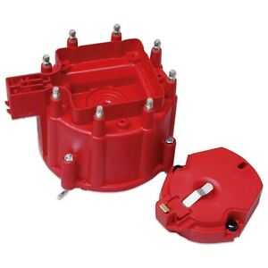 Msd Ignition 8416 Red Distributor Cap And Rotor Kit Fits Gm Hei