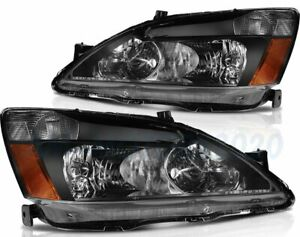 For 2003 2007 Honda Accord 2 4dr Replacement Headlight Assembly Lamps Pair Light