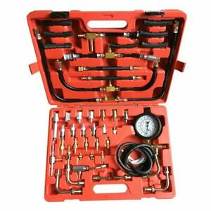 Plastic Metal Manometer Fuel Injection Pressure Tester Gauge Kit System