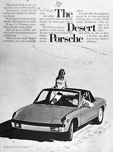 1972 Porsche 914 Lot Of 2 Genuine Ads 1 Pg Road Test Free Shipping