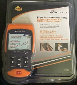 Elite Auto Scanner Kit Actron Enhanced Obd I Obd Ii Can Scan Tool