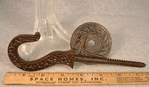 Antique Victorian Eastlake Cast Iron Ornate Ceiling Hook Lot 3