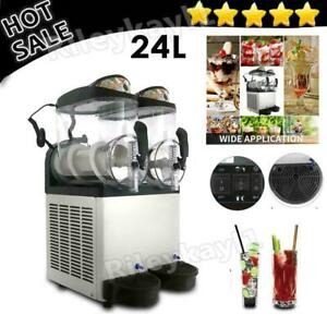 Margarita Girl Double Bowl Margarita Slush Frozen Commercial Drink Machine 24l