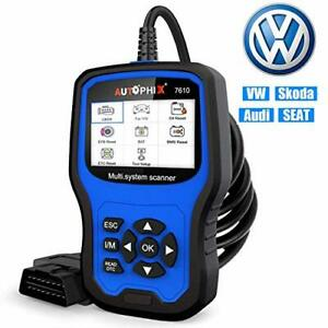 Autophix Obd2 Scanner For Vw Audi Skoda Seat All Series Advanced Full systems