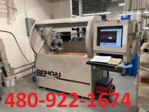 1999 Flow Bengal Cnc Waterjet 2x4 Table Size Water Only Dual Head 30 Hp 55k Psi