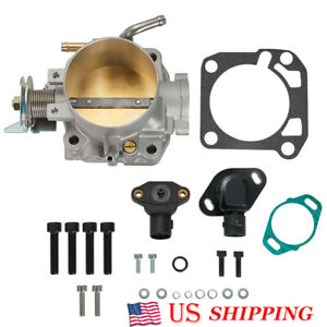 70mm Throttle Body W Tps Map Sensor For Honda Civic Si Acura Integra B d h f