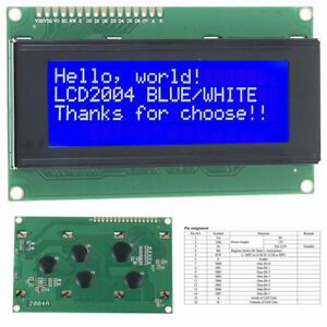 Lcd 2004 Blue 20x4 Lcd2004 Character Module Display Screen For Arduino Spi