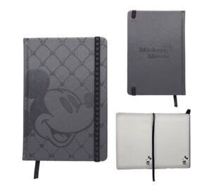 New Disney Mickey Mouse Black Lined Deluxe Journal Embossed Writing Notebook