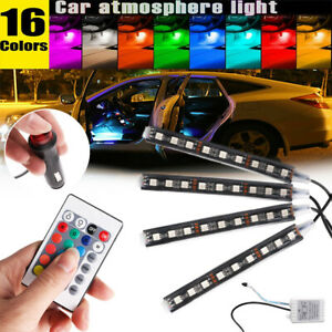 4 36rgb led Glow Car Interior Lamp Under Dash Footwell Seats Inside Lighting