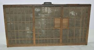 Vintage Printer s Letterpress Type Tray drawer 1896 California Job Case