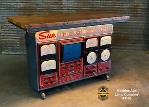 Steampunk Industrial Machine Age Lamp Table Stand Console Sun Engine Analyzer