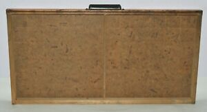 Vintage Printer s Type Drawer Shadow Box Full Size Case 2 Compartment