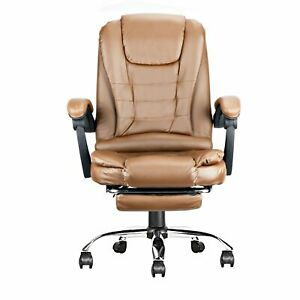 Executive Ergonomic Office Chair Pu Leather High Back Computer Gaming Desk Task