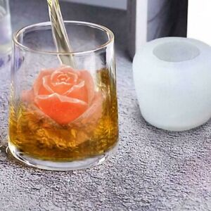 Rose Flower Ice Cube Ball Maker Large Tray Silicone Mold Diy Mould Tool