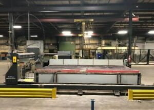 Multicam 6 407 w br Cnc Waterjet Cutting 8x16 Table Size 50 Hp 60k Psi 2015
