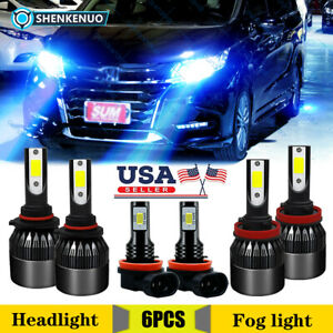 For Honda Odyssey 2011 2020 Combo Led Headlight High Low Beam Fog Light Bulbs