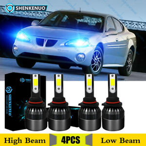 4x Ice Blue Led Headlight Bulbs Kit Hi lo Beam For Pontiac Grand Prix 2004 08