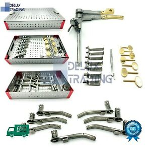 Caspar Lumbar Discectomy Retractor Set Surgical Instruments Kit With Container