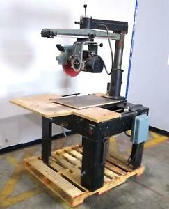 Delta 33 401 Heavy Duty Industrial Radial Arm Saw 230v 13a 3450rpm Untested
