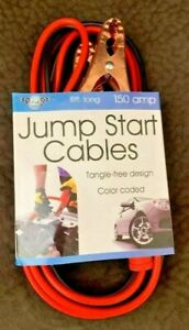 Sterling Auto Jump Start Cables Tangle Free Design 8 Ft Cord 150 Amp Brand New
