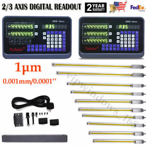 2 3axis Lcd Dro Digital Readout 1um Linear Glass Scale 100 1000mm For Cnc Lathe