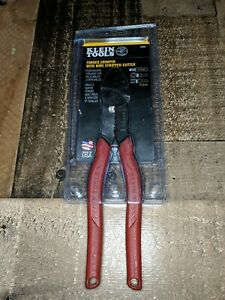 Klein Tools 2005n Wire Crimper Cutting Tool Forged Steel Heavy Duty Wire Strip
