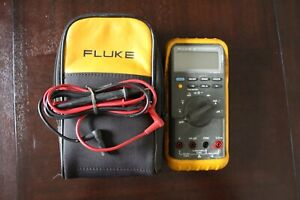 Fluke 87 True Rms Multimeter With Leads And Case