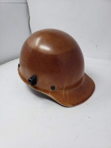 First Msa White Phenolic Cap Style Hard Hat With 4 Point Pinlock Suspension