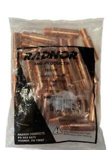 New 25 Pack Radnor Contact Tips 16s 35 Tweco Style 035 64002758