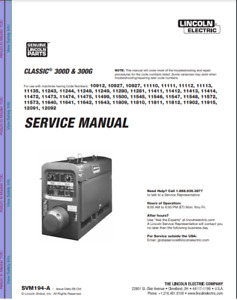 Lincoln Classic 300d 300g Service Manual