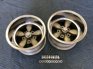 2 Polished Lip Rare 15x10 Daisy Style Wheels 5 On 5 1 2 Ford Pu Van Hotrods