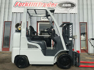 2014 Nissan Mcp1f2a25lv 5000lb Cushion Tire Forklift With Low Mast
