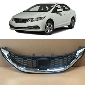 Chrome Replacement Grille For 2013 2014 2015 Honda Civic Sedan 4 Door Oe Style