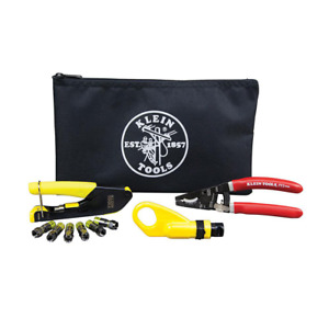 Klein Tools Coax Cable Installation Kit Polyester Zipper Pouch Included