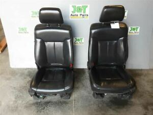 2011 2012 2013 2014 Ford F150 Front Bucket Seats Black Leather