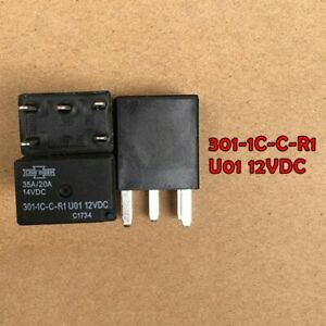 Relay Replaces Automotive Ultra Micro Iso Relay 301 1c c r1 U01 12vdc 5 Pin Spst