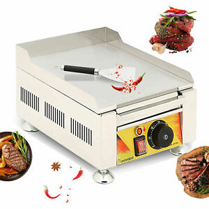 2000w Commercial Electric Griddle Countertop Bbq Grill Flat Hotplate Egg Fryer