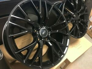 19 20 C7 Z06 Style Gloss Black Rims Wheels Fits Corvette Z51 Package Staggered