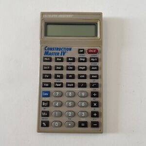 Construction Master Iv Calculator By Calculated Industries Model 4045 V2 0